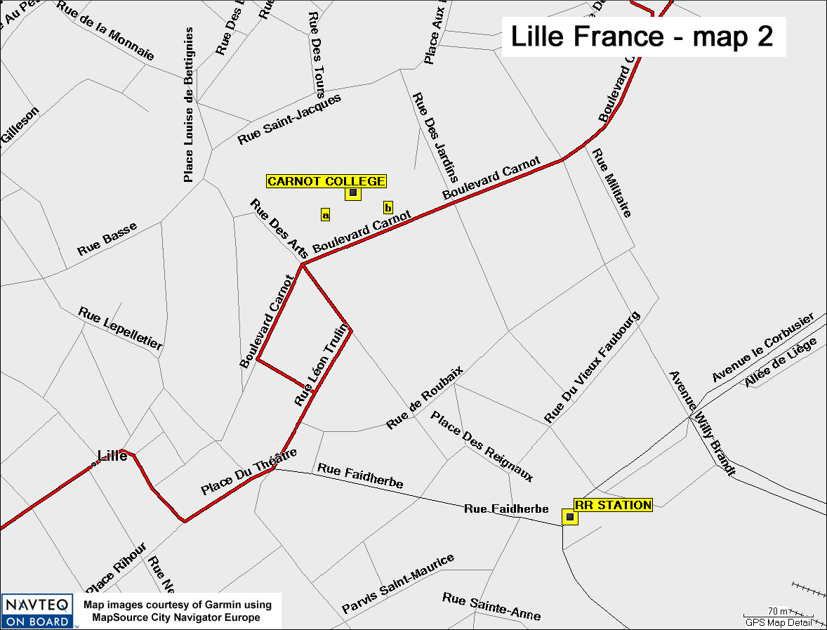 Map Of France Showing Lille.Lillemap02