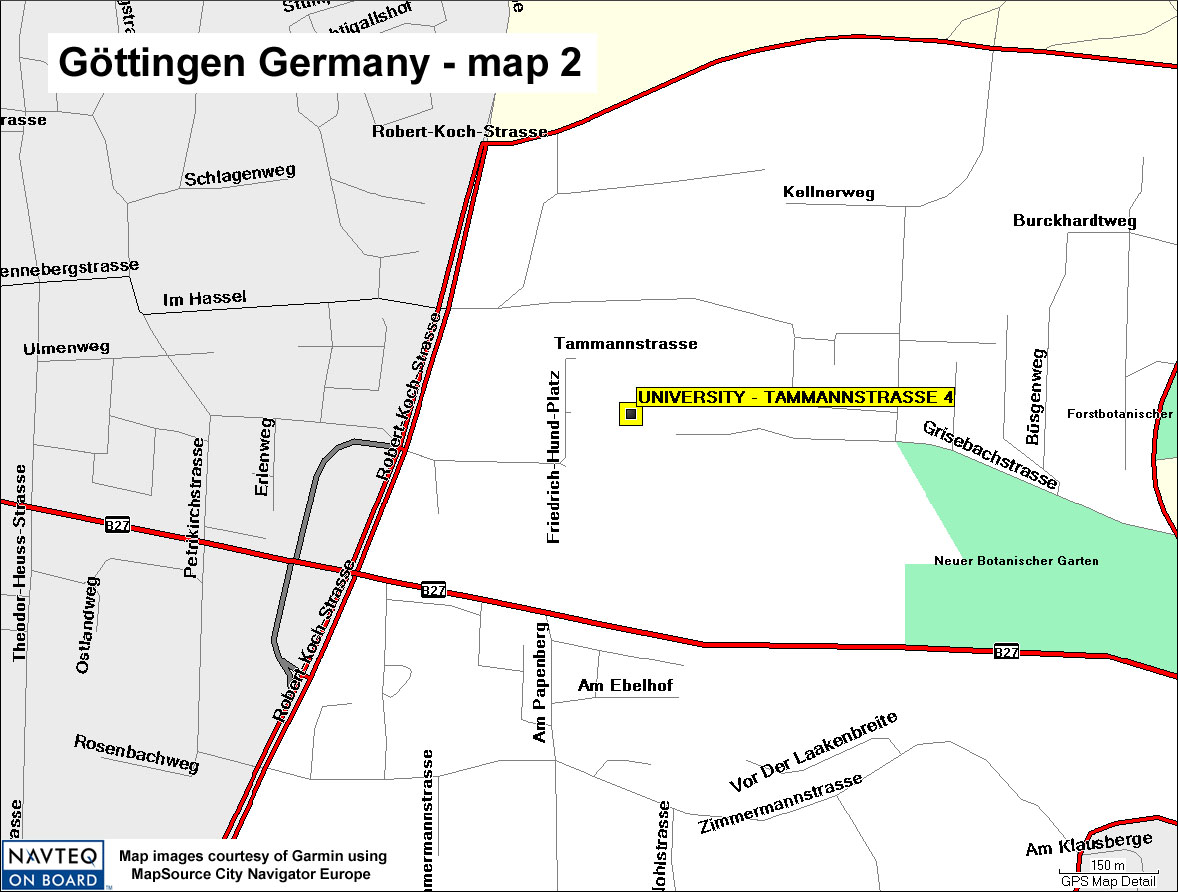 Map Of Germany Gottingen.Gottingen Map 02