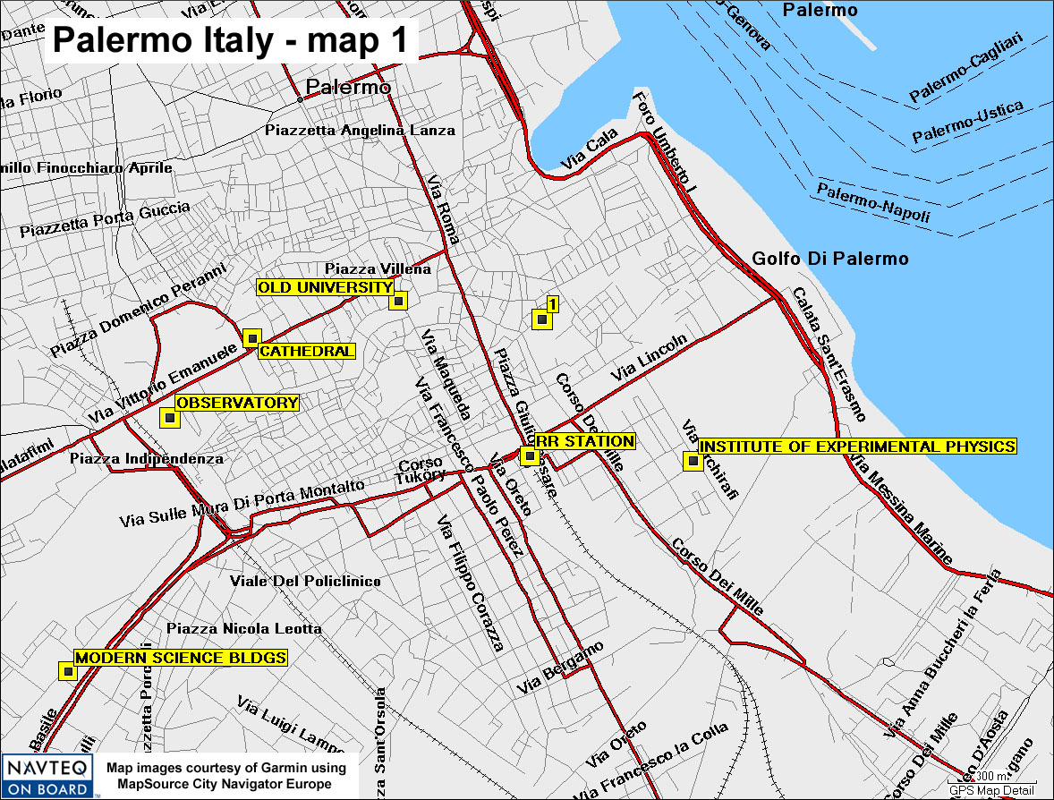 Palermo Italy Map 1