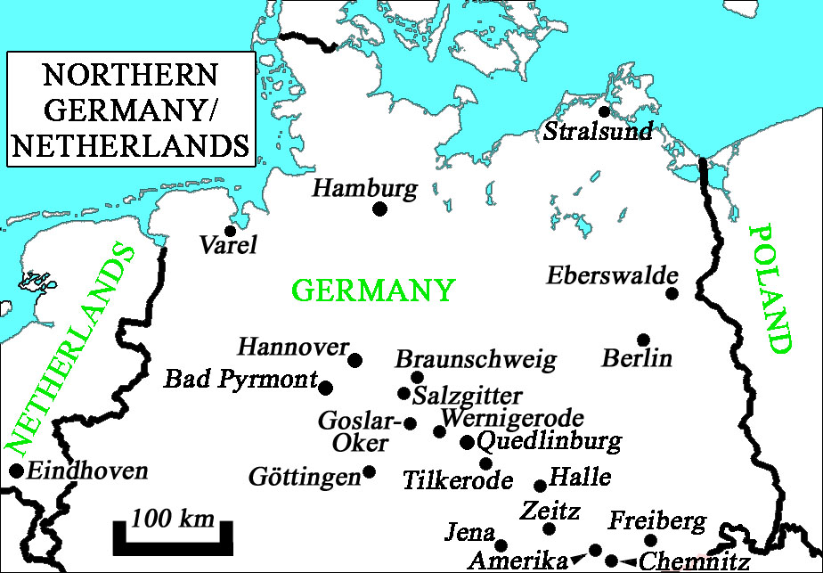 Map Of The Netherlands And Germany.The Netherlands